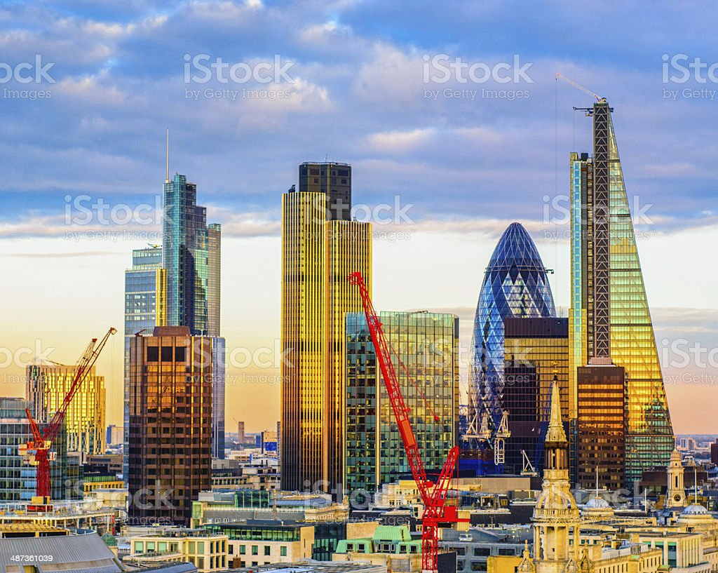 London's New Skyline stock photo