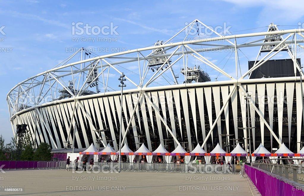 London's Olympic Stadium, early morning stock photo