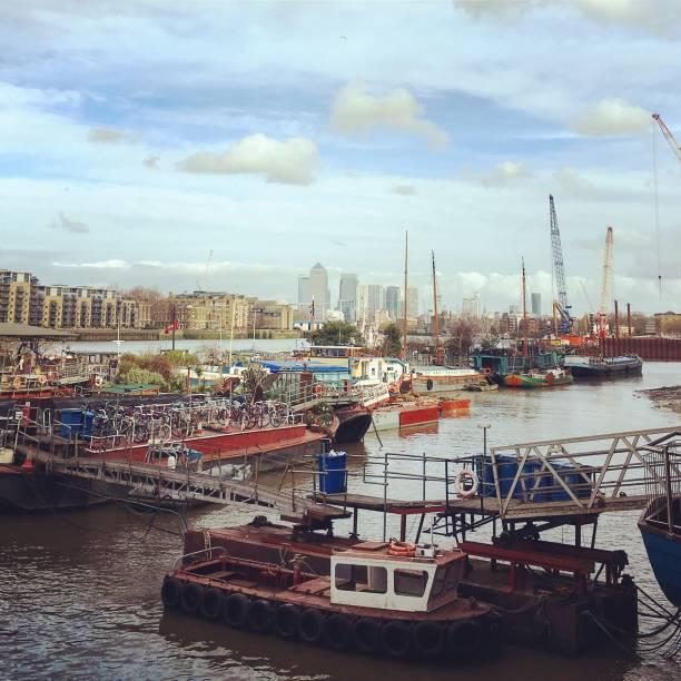 London's river life vibes. stock photo