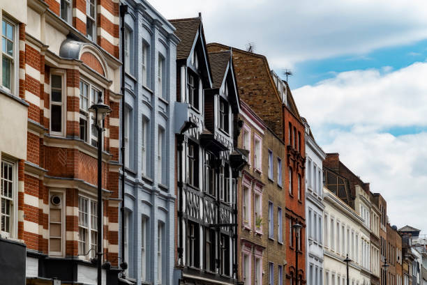 London's West End architecture Class architecture in the West End of London mayfair stock pictures, royalty-free photos & images