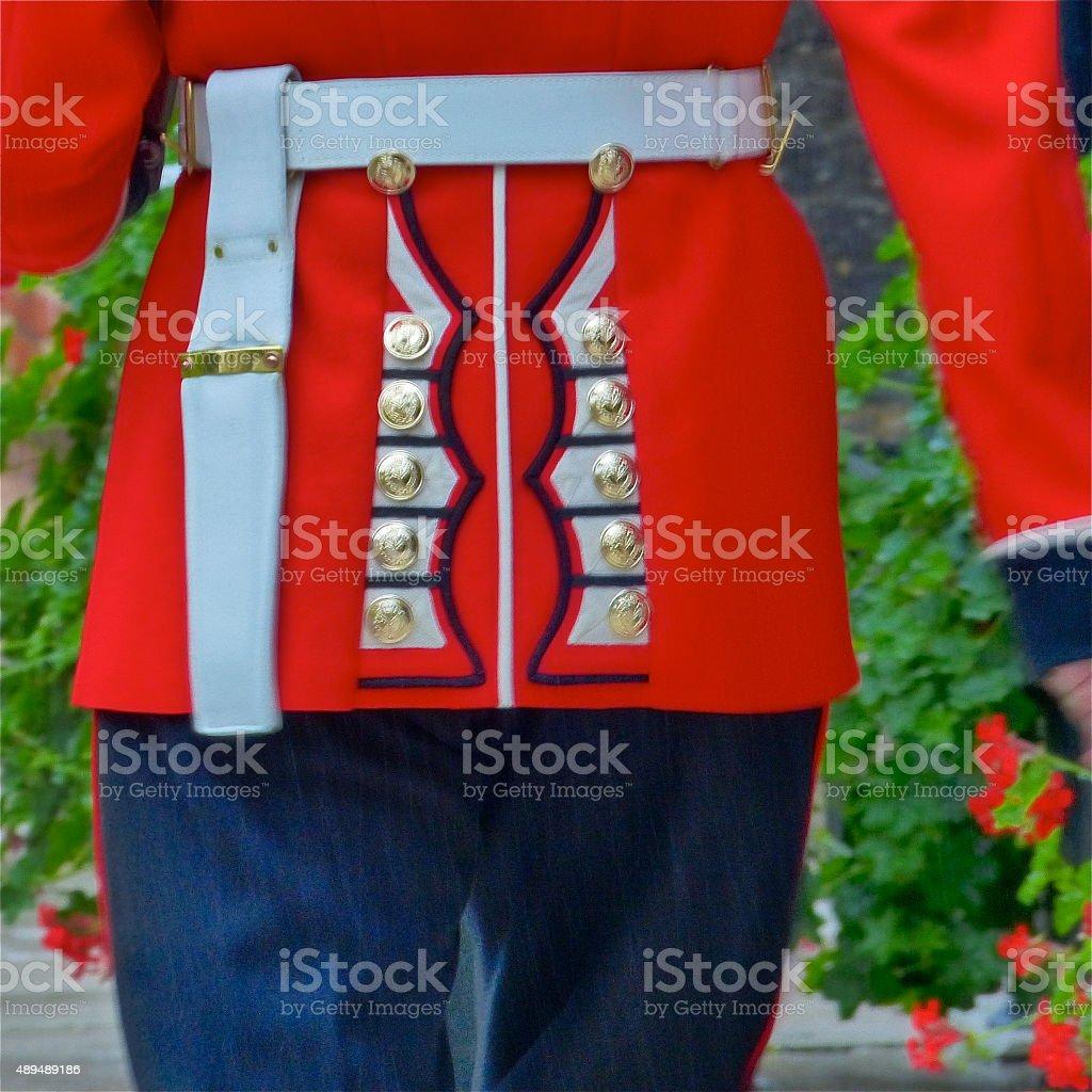 Londres -Tower of London, gros plan, uniforme,Guarde, militaire stock photo