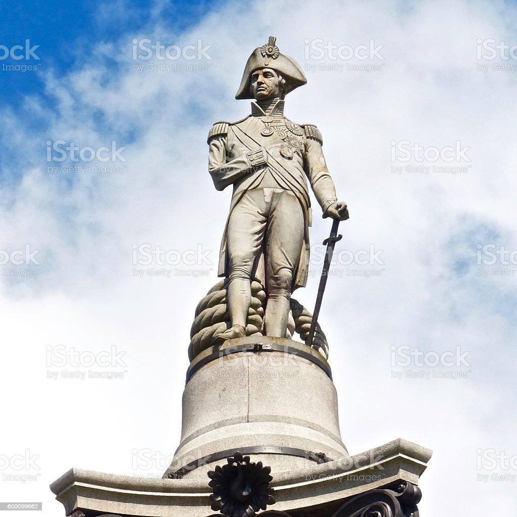 Londres - Trafalgar Square, Nelson stock photo