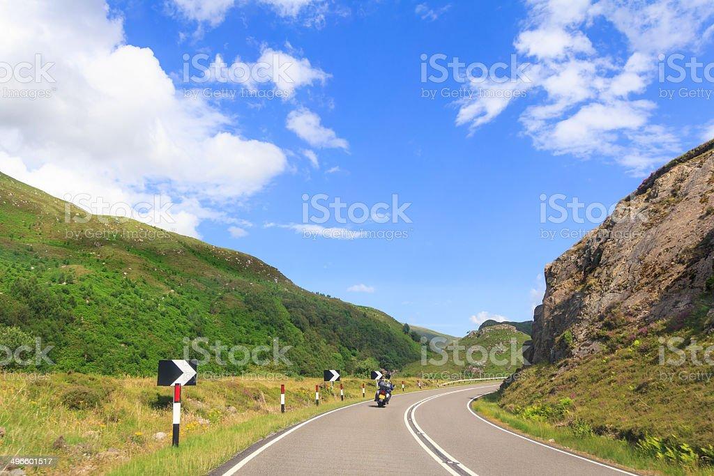 Lone Biker stock photo