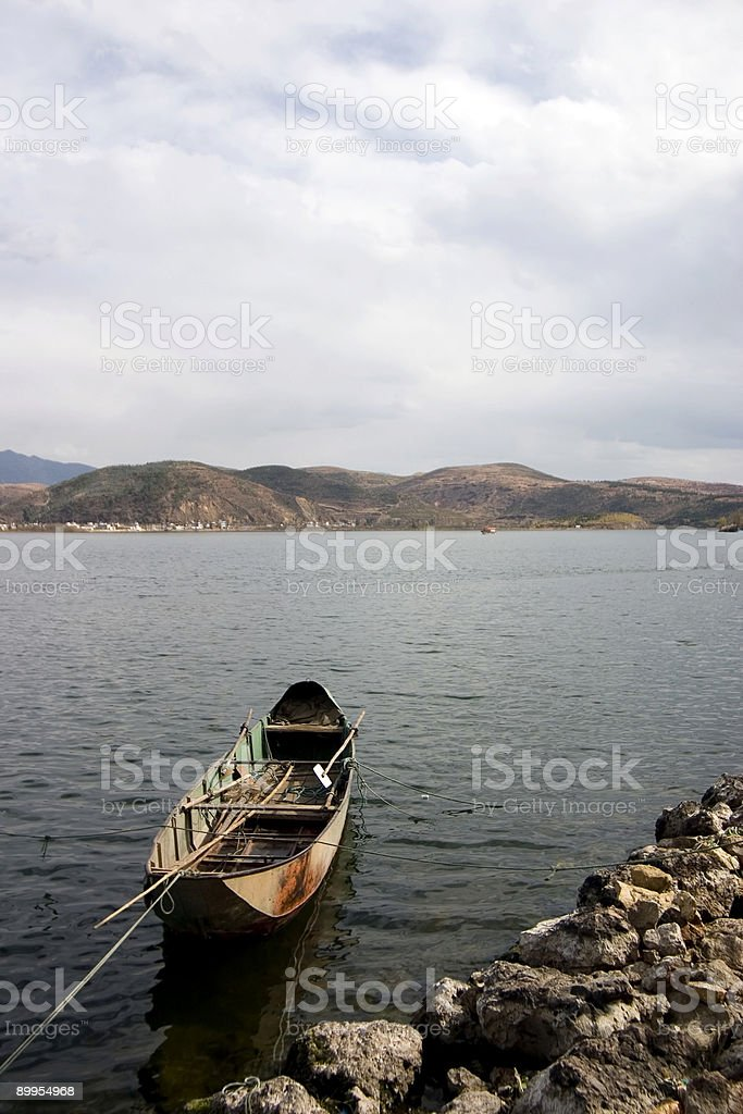 Lone Boat royalty-free stock photo