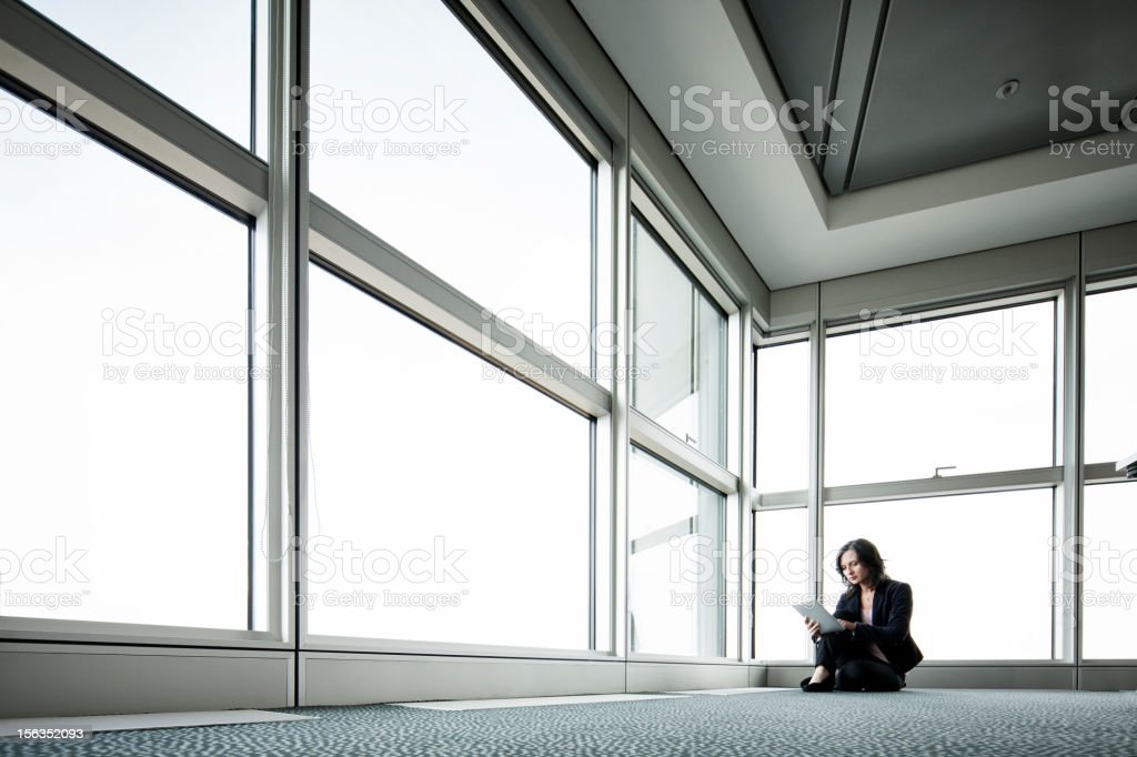 Lone business woman royalty-free stock photo