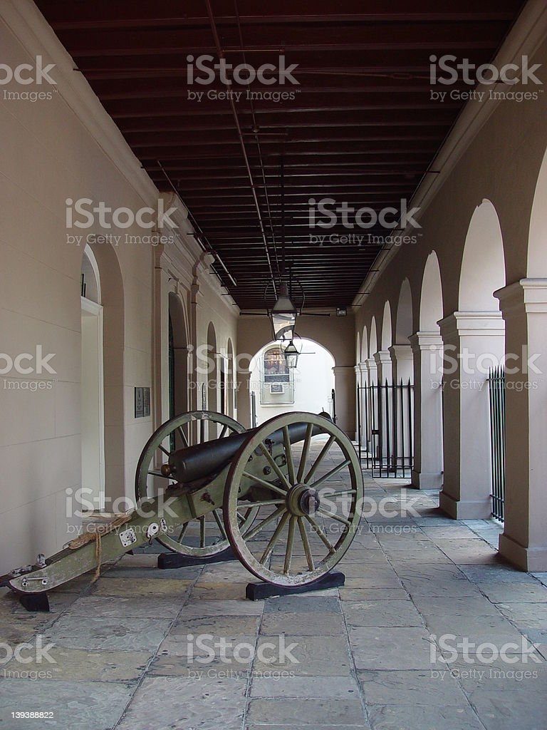 Lone Cannon stock photo