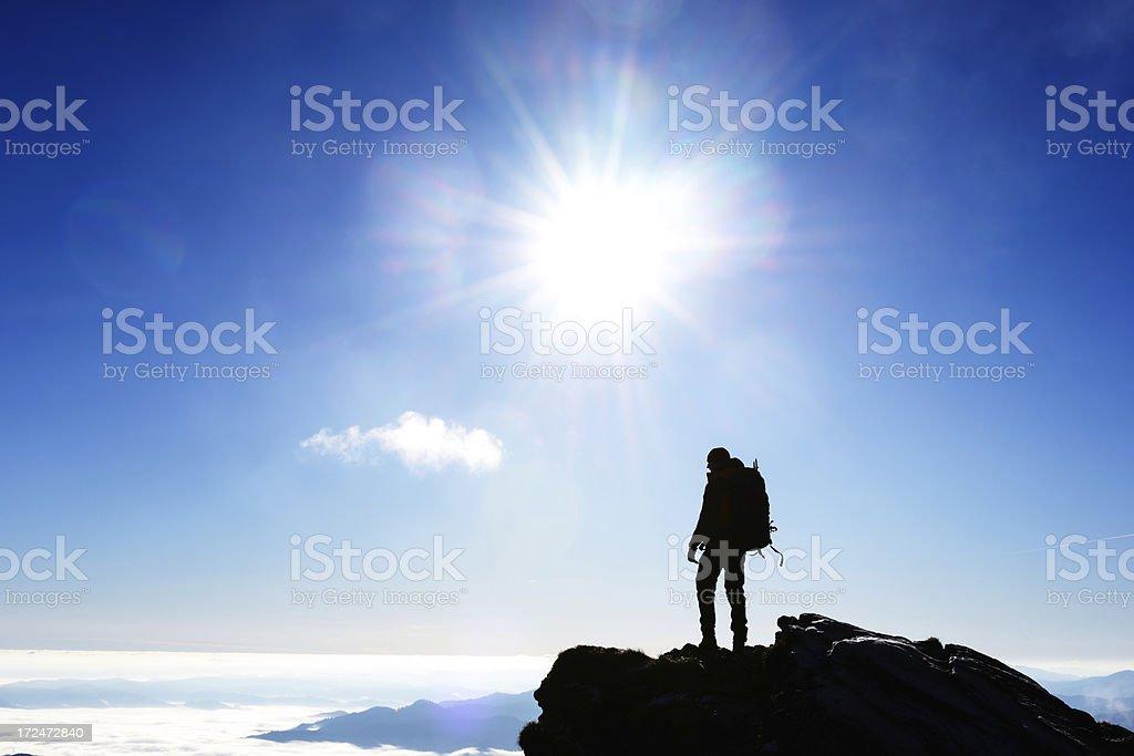 lone climber royalty-free stock photo