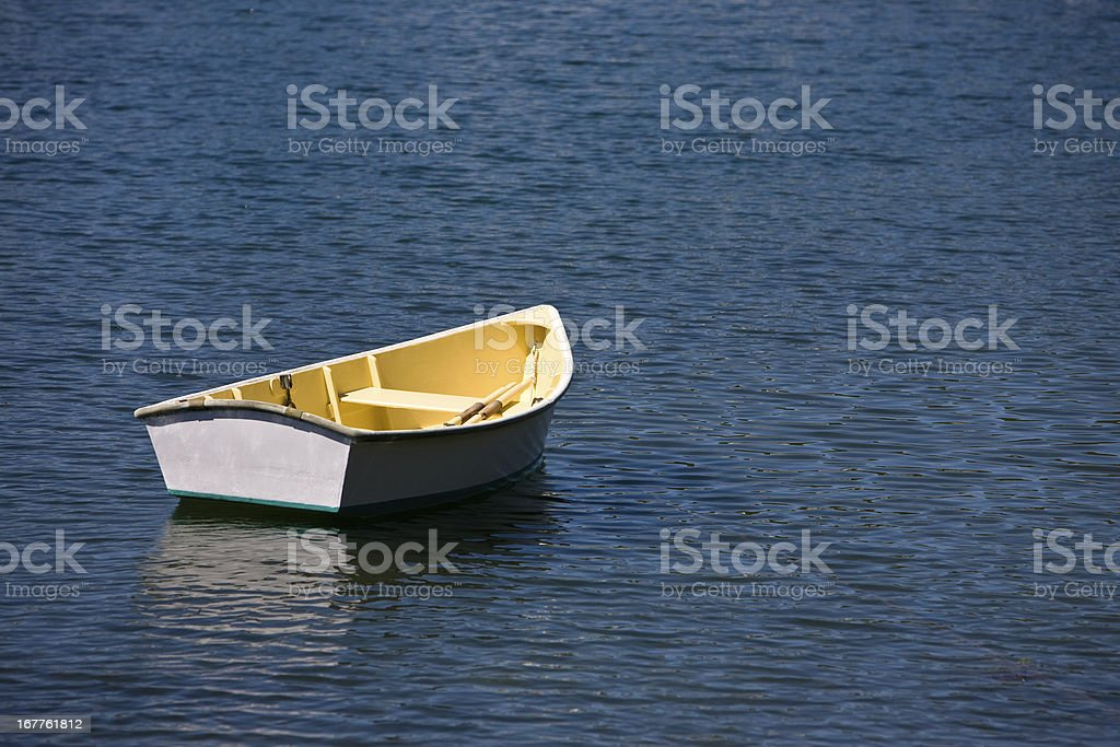 Lone Dingy royalty-free stock photo