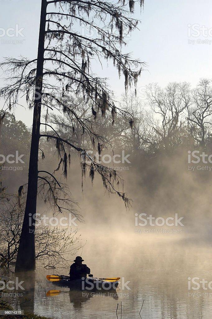 Lone kayaker royalty-free stock photo