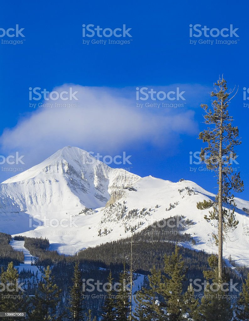 Lone mountain montana stock photo