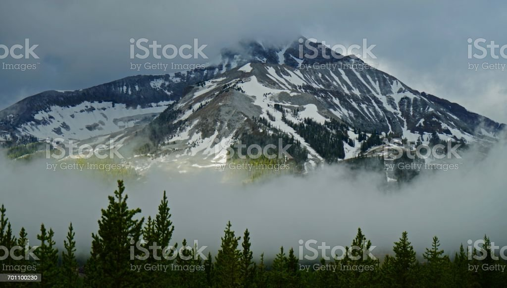 Lone Mountain Mystic stock photo