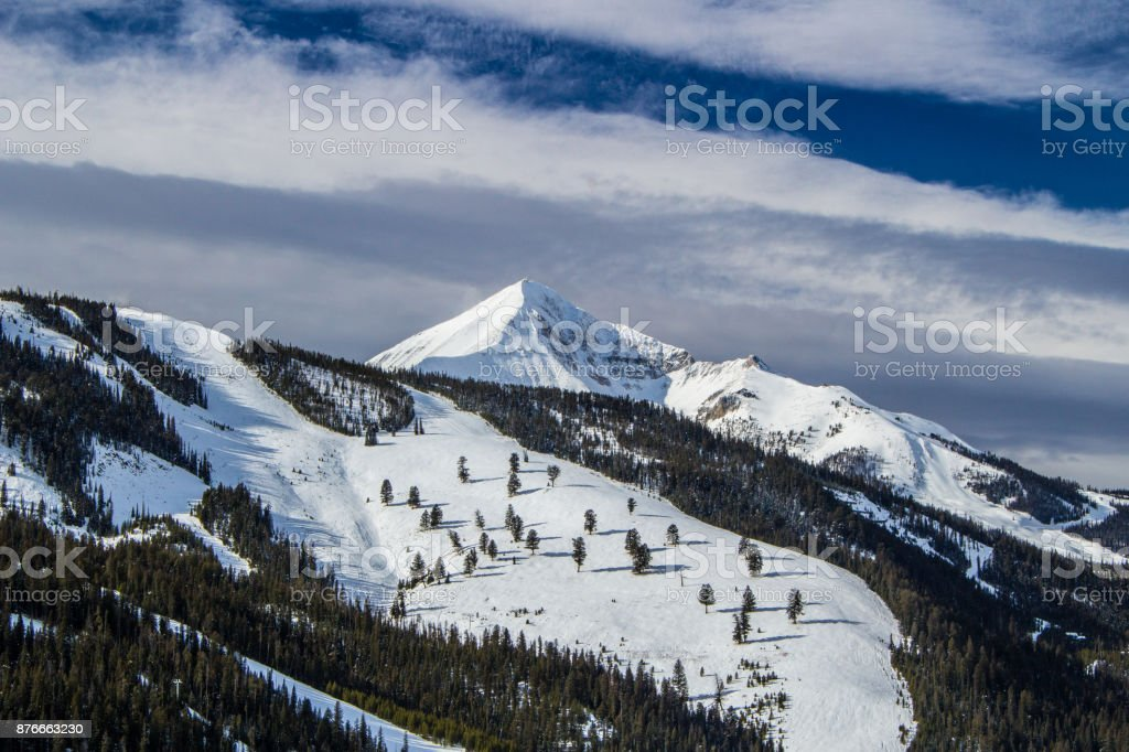 Lone Peak Road View stock photo