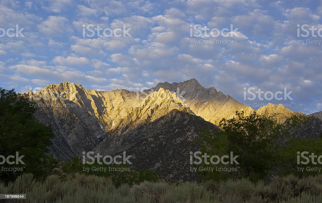 Lone Pine Peak Radiance stock photo