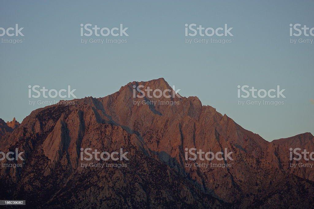 Lone Pine Peak Sunrise royalty-free stock photo