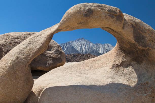 Lone Pine Peak through Mobius Arch stock photo
