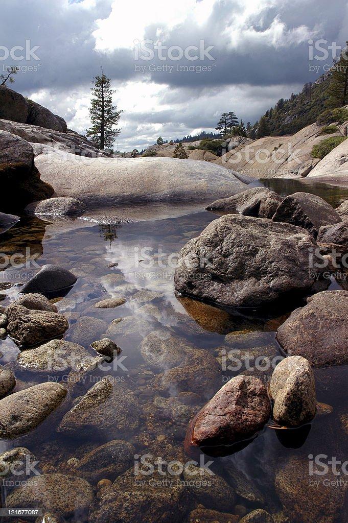 Lone Pine, Quiet Pool stock photo