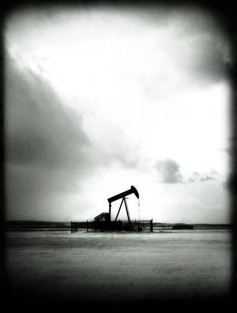 Lone Pumpjack stock photo