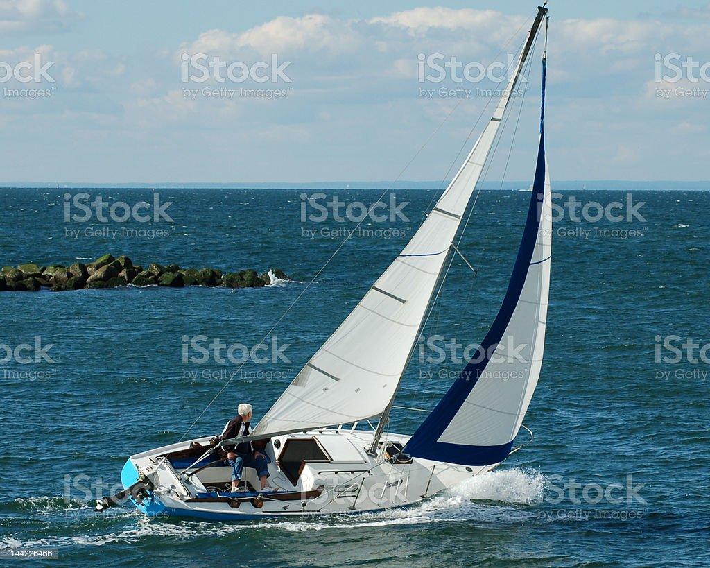 Lone Sailor royalty-free stock photo