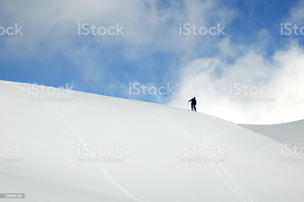 Lone skier royalty-free stock photo