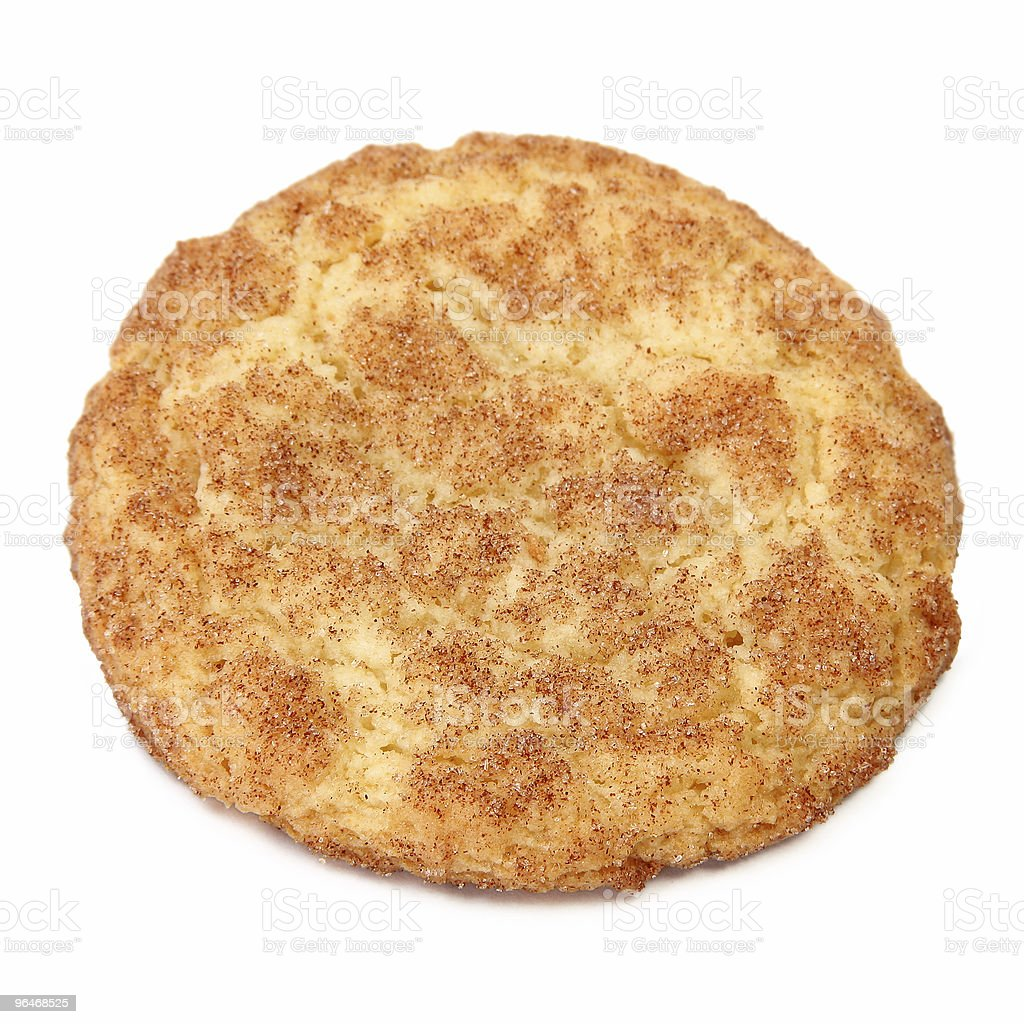 A lone snickerdoodle on a white background royalty-free stock photo