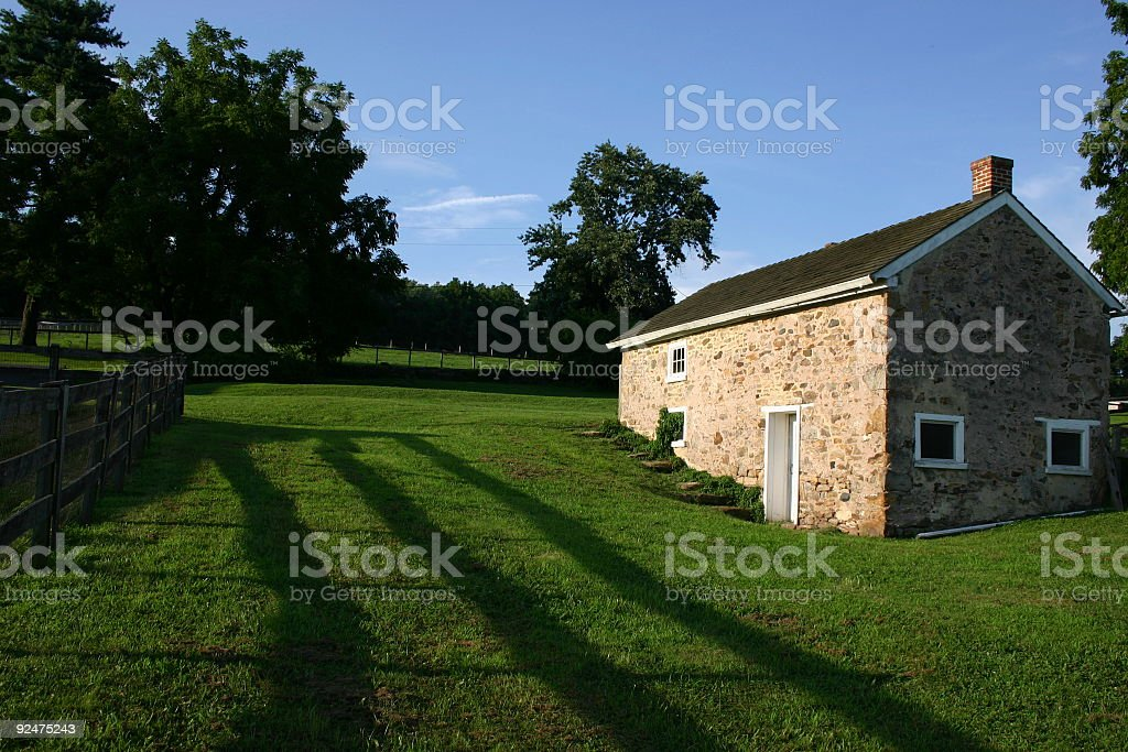 Lone Springhouse royalty-free stock photo