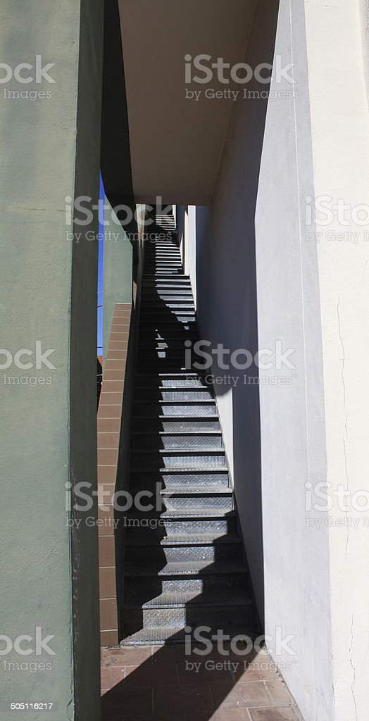lone staircase royalty-free stock photo