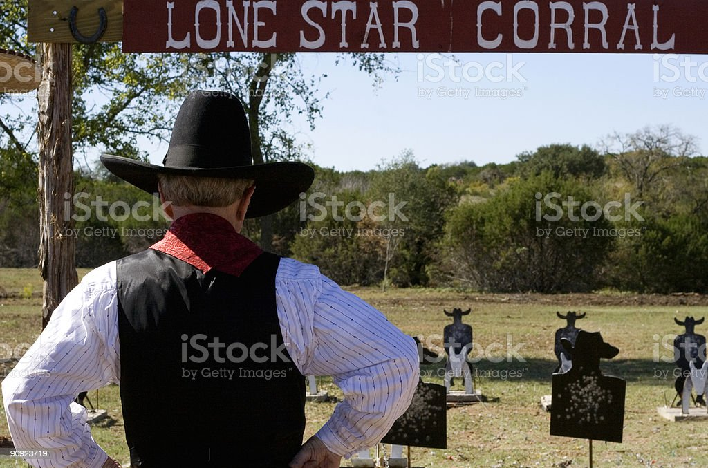 lone star corral royalty-free stock photo