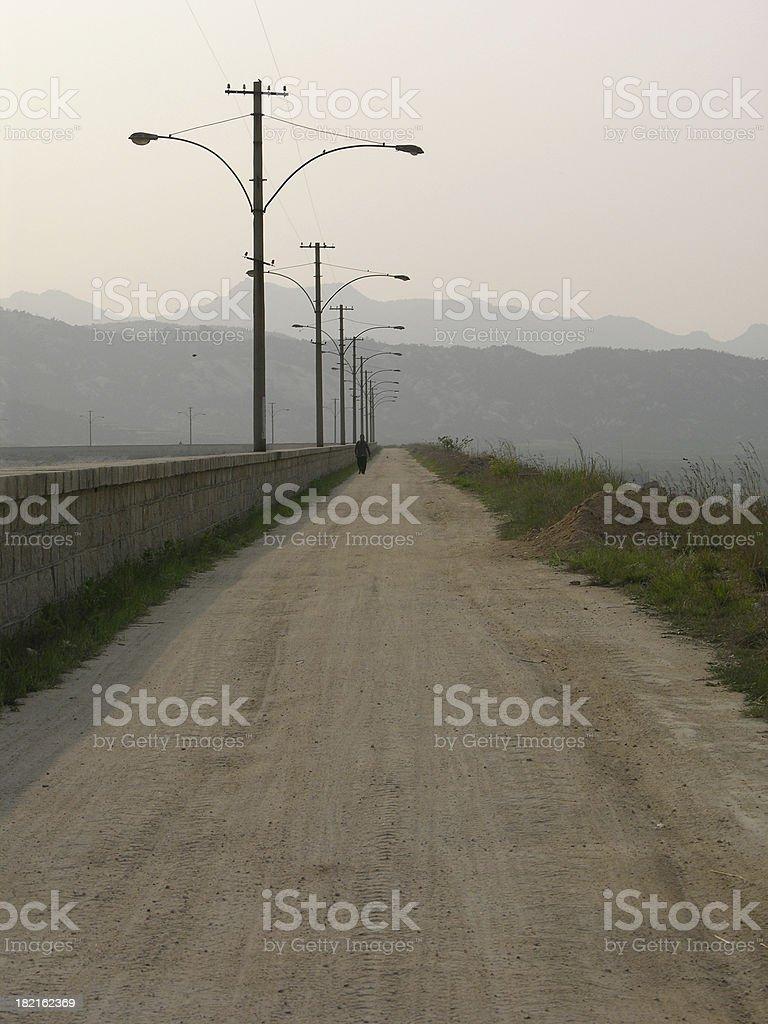 Lone traveller stock photo