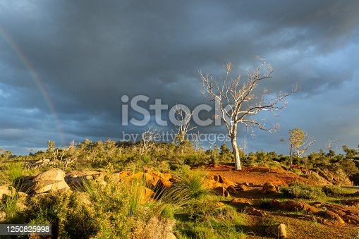 Stormy sky at Lions Hills Lookout, Kalamunda with views of Statham's Quarry