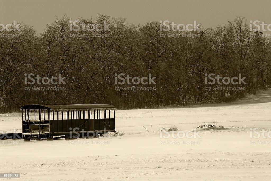 Lone Wagon, Sepia, marrón foto de stock libre de derechos