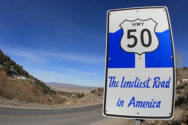 Loneliest Road In America stock photo