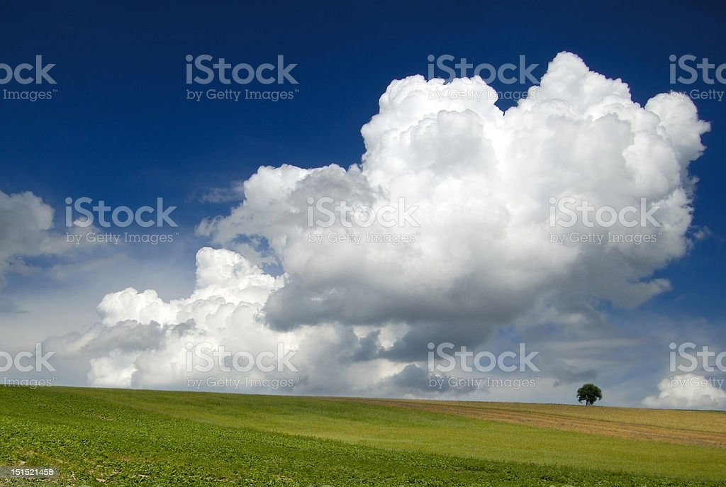 Loneliness among clouds royalty-free stock photo