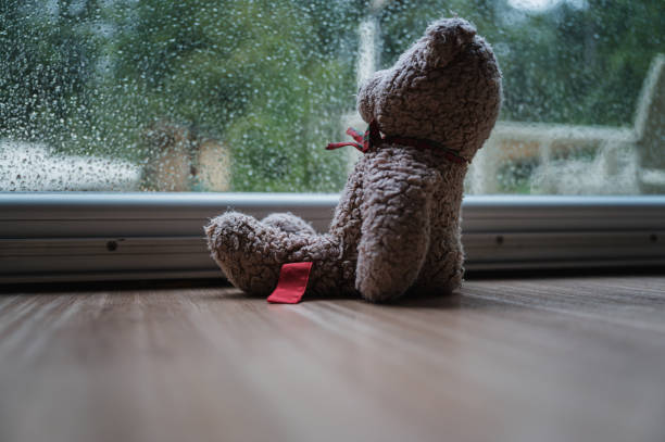 Loneliness and abandonment concept stock photo