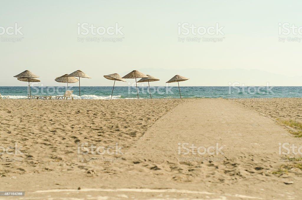 loneliness beach stock photo