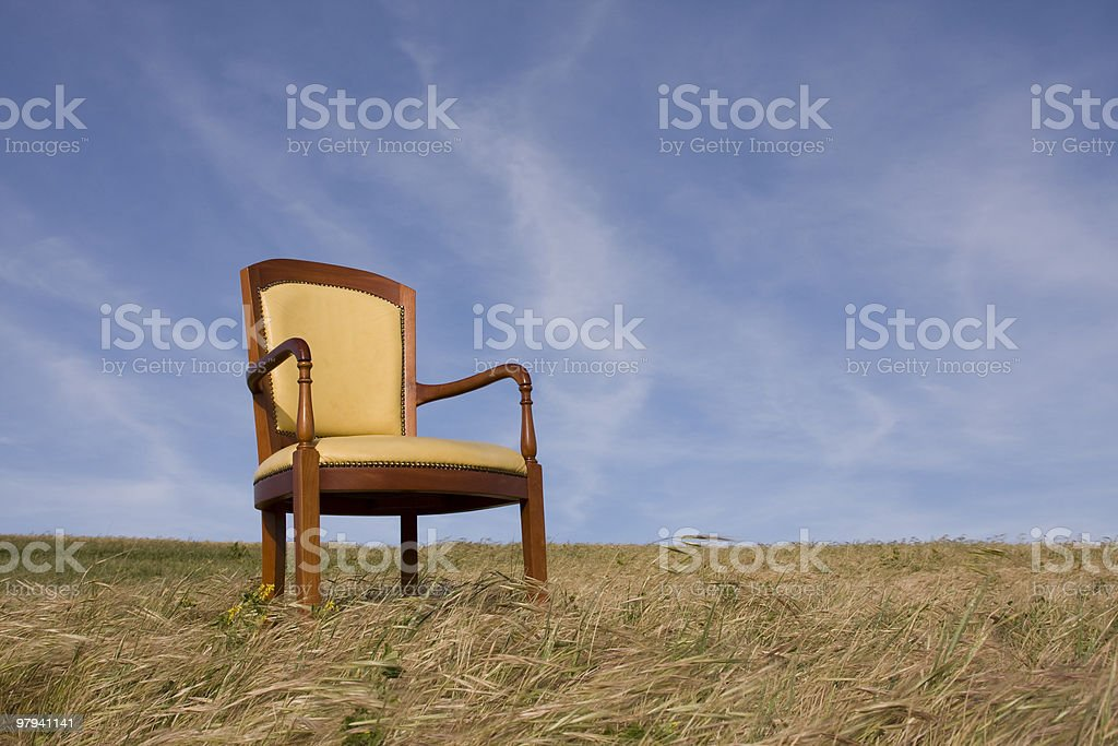 Loneliness chair royalty-free stock photo