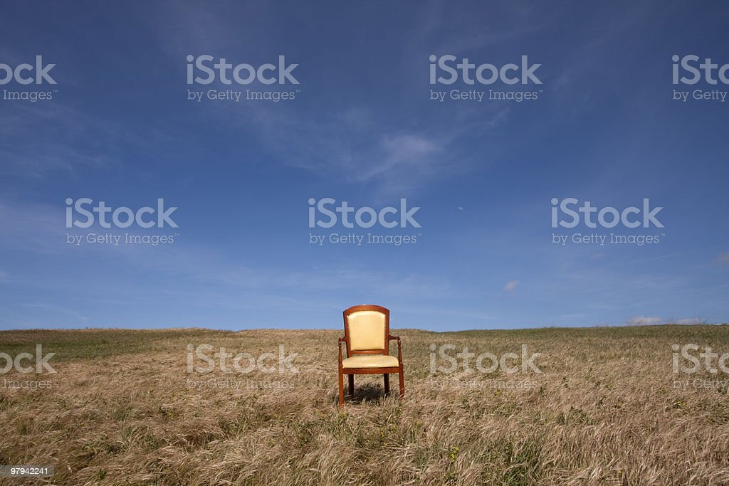 Loneliness executive chair royalty-free stock photo