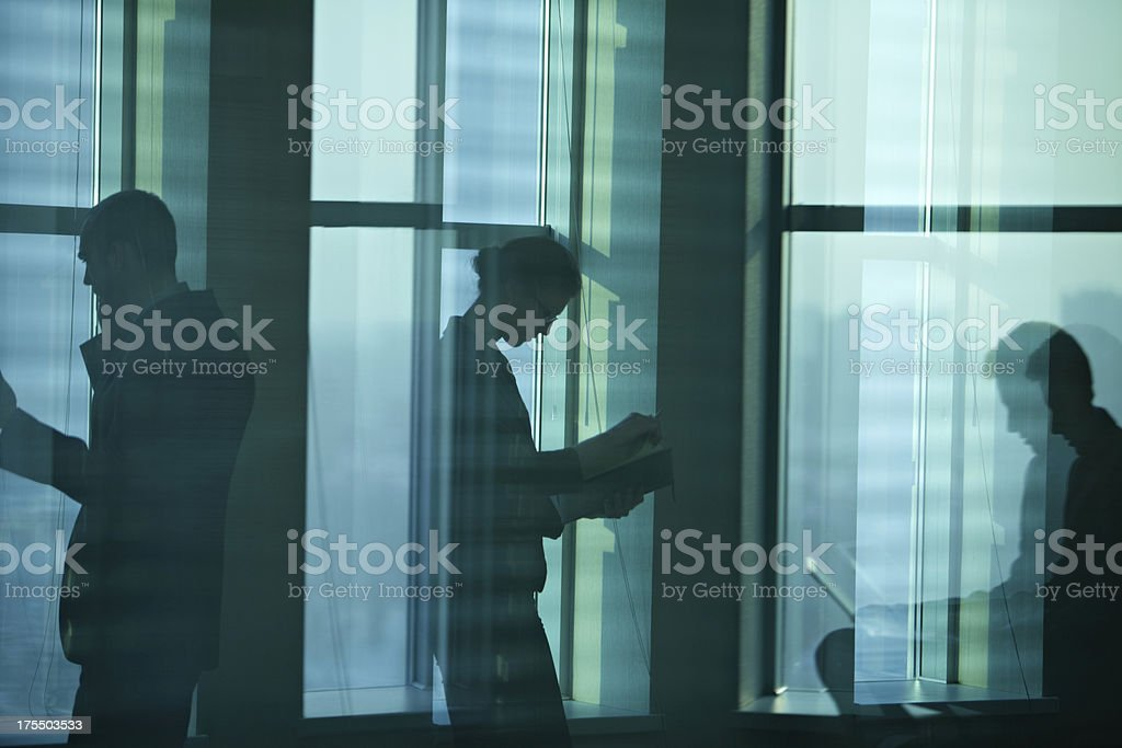 Loneliness in office royalty-free stock photo