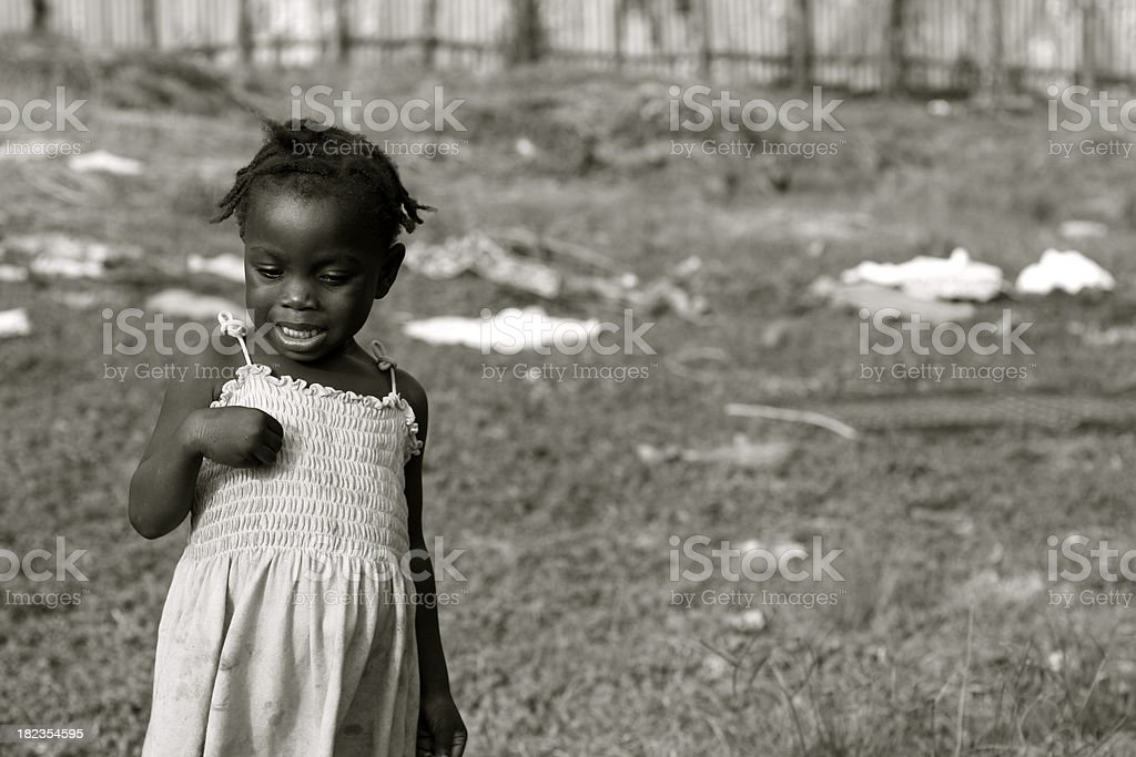 Lonely African Child royalty-free stock photo