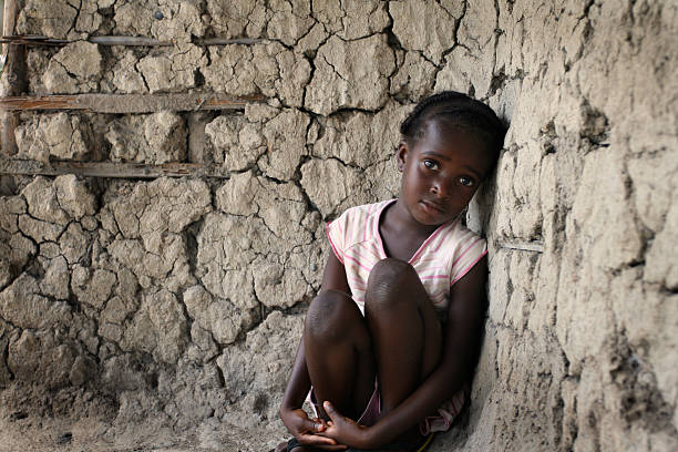 Lonely African Girl stock photo