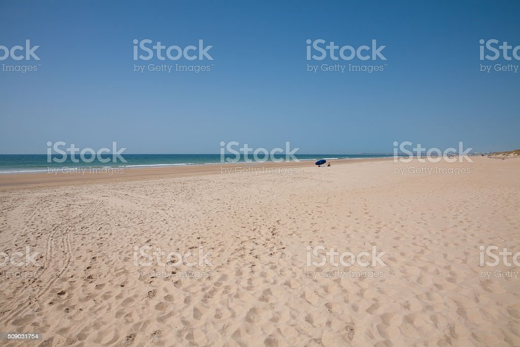 lonely Andalusian beach stock photo
