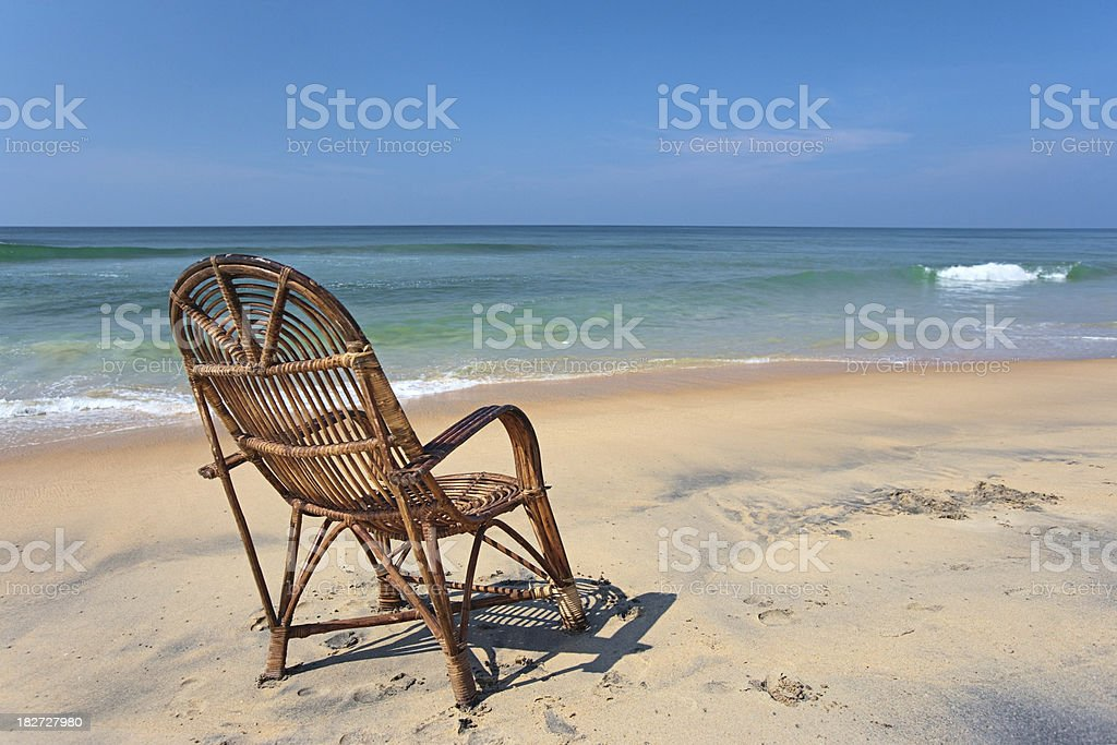Lonely armchair royalty-free stock photo