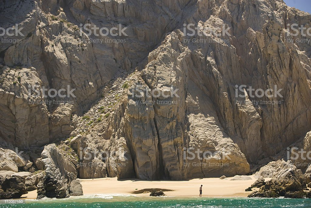 Lonely beach. royalty-free stock photo