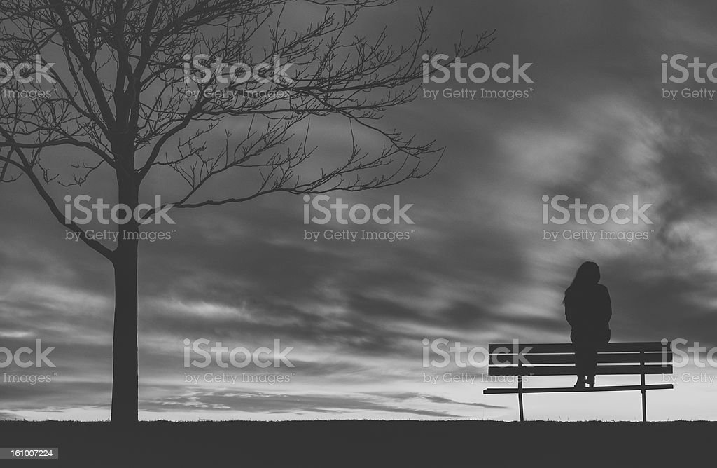 Lonely Bench royalty-free stock photo