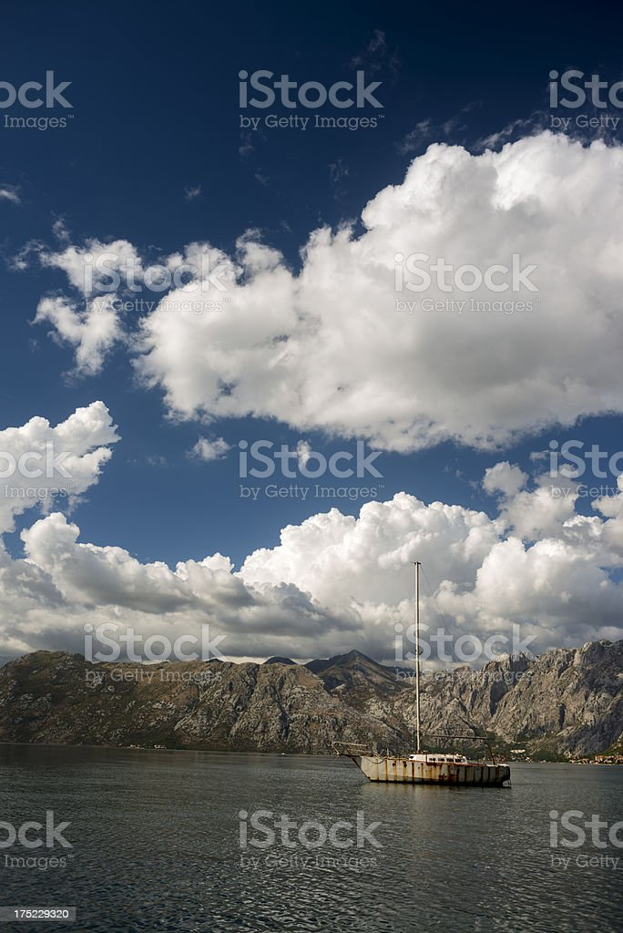 Lonely boat, royalty-free stock photo