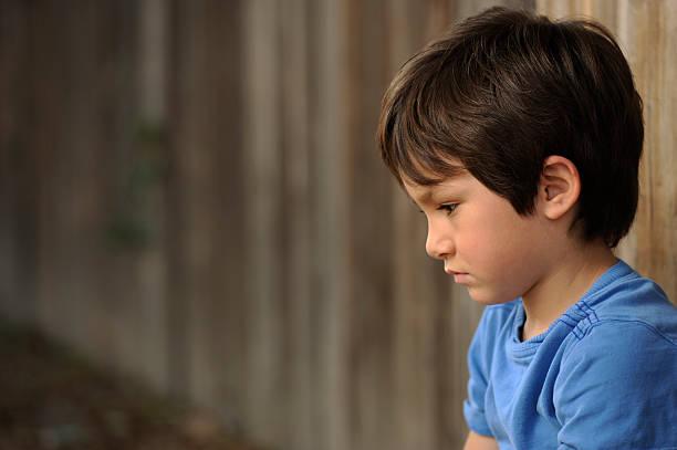 Cтоковое фото Lonely мальчик