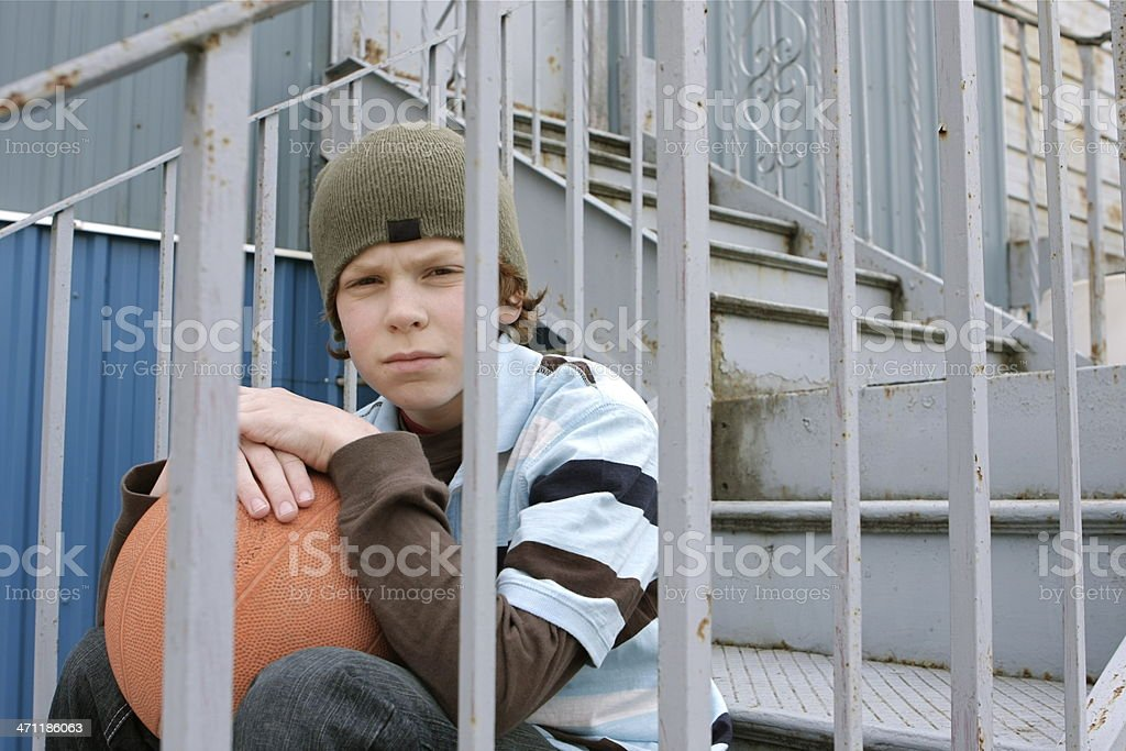 Lonely Boy royalty-free stock photo
