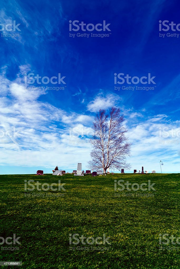Lonely Cemetary stock photo