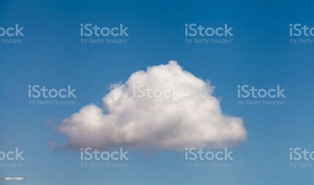 Lonely Cloud stock photo