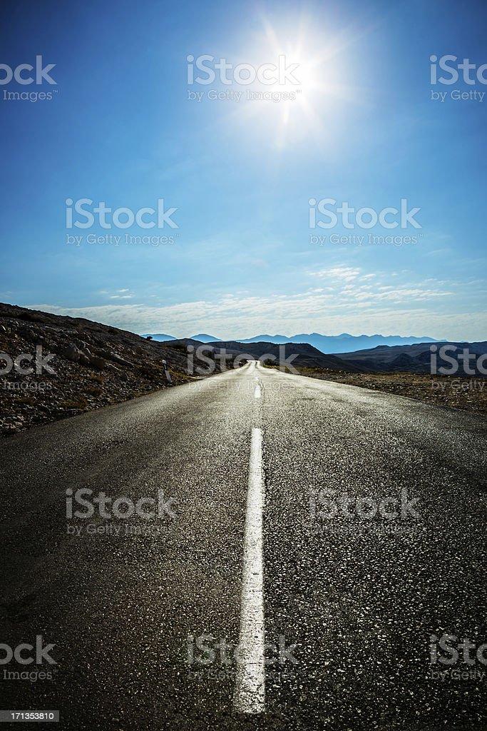 Einsame Landstraße road – Foto