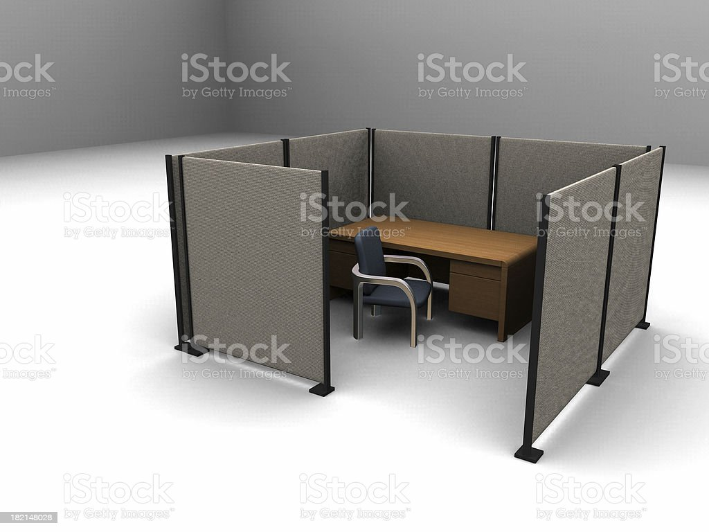 Lonely Cubicle 01 royalty-free stock photo